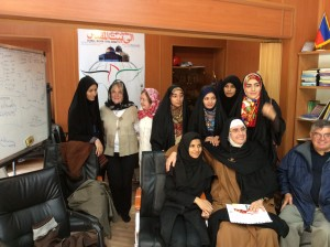 Mairead Maguire & Ann Patterson meeting peace activists in iran 2014