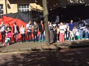 Demo outside BBC In Belfast For Palestine