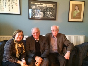 Mairead Maguire & Gerry Grehan with Cuban Ambassdor To Ireland