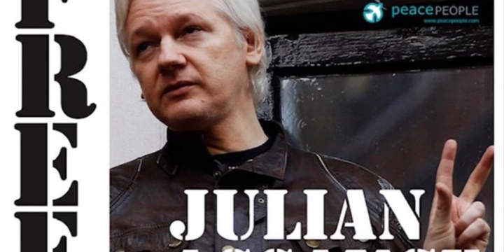 Julian Assange was dramatically arrested by British police today and dragged screaming from the Ecuadorian Embassy after seven years hiding inside.